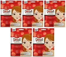 5 x Yes to Tomatoe Moisturising Powder to Clay Face Mask Hydrating Dry Skin Pack