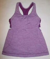 LULULEMON TURBO TANK TOP HEATHERED DEW BERRY YOGA RUNNING DANCE SPIN EUC size 4
