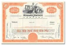 Howard Johnson Company Stock Certificate