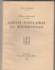 Contes populaires du Bourbonnais Paul Duchon 1938