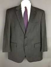 JOS A BANK HERRINGBONE MENS 2 BTN GRAY SUIT WOOL AND CASHMERE 42 SH
