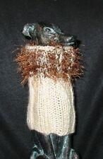 Cream w/ Brown Eyelash Italian Greyhound Snood 2 wear w/ dog coat *100% Donation