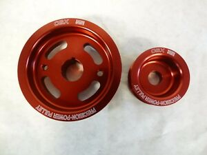 OBX Racing Percision Power Pulley for 00-04 Toyota MR-S Corolla 1ZZ 2ZZ 1.8L Red