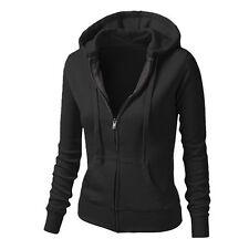 Damen Sweatjacke Sweatshirts Kapuzen Freizeit Pulli Jacke Mantel Winterjacke DE