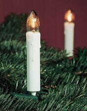Collier de bougie cannelée blanc HELLUM 611618 16 Bougies éclairage intérieur