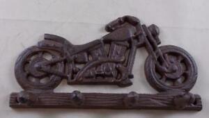 Cast Iron Motorcycle Key Rack Key Holder - Wall Decor - Motorbikes Harley
