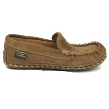LL Bean Slippers Womens Slip On Shoes Size 6 Brown Comfort Brown Lined 506024