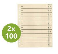 200x Trennblätter Trennblatt  für DIN A4 chamois 240 x 300 mm