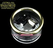 JAPAN SANKYO  Circle in Silver Wind Up Music Box : Star Wars - The Force Theme