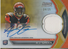 A.J. Green 2011 Topps Bowman Sterling RC RPA autograph auto card BSAR-AJG /25