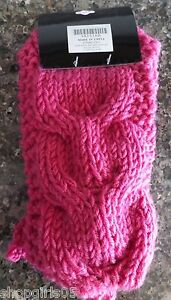 New! Soft Solid Color Crochet Headwrap Knit Hairband  Ear Warmer - Pink