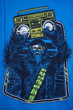 STAR WARS Turquoise CHEWBACCA Retro Boom Box T-Shirt Size Large L NWT