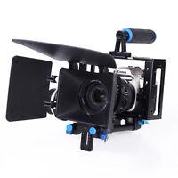 Camera Cage Handle + Follow Focus + Matte Box Kit For DSLR DV Film Video Camera
