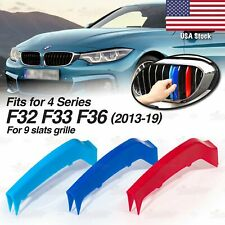 M-Performance 9 BAR Kidney Grille 3 Color Covers for BMW 4 Ser F32 F33 F36 14-19