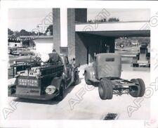 1958 St Petersburg FL Fire Department Old & New Fire Trucks Press Photo