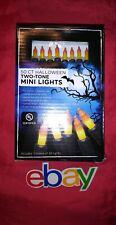 50 indoor outdoor Halloween HOLIDAY FLICKER & CONSTANT lights CANDY CORN bulbs