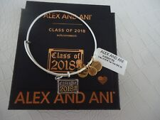 Alex and Ani CLASS OF 2018 Rafaelian Silver Two Tone Bracelet W/ Tag Card & Box