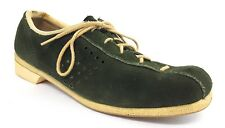 Vintage Womens Bowling 70s Shoes By Ebonite Green Size 10.5 Suede