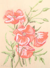 Floral Pastel Painting Flowers Signed