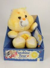 "New Vintage 1983 Kenner Original Care Bear 13"" FUNSHINE Bear Stuffed Plush Toy"