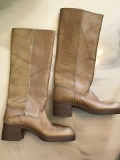 Tan Leather Boots Size 6 M