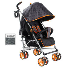 NEW MY BABIIE POLKA DOT MB02 PUSHCHAIR COMPACT STROLLER WITH RAINCOVER