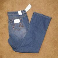 NWT $89 MELISSA MCCARTHY SEVEN7 Womens 16W Swirl Pocket Boot Cut Jeans Med Wash
