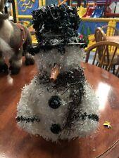 Light Up Beaded Snowman Decoration