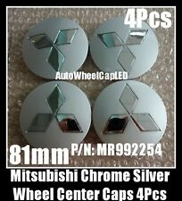 Mitsubishi Montero Pajero Wheel Center Caps Chrome Silver 81mm 4Pcs Set MR992254