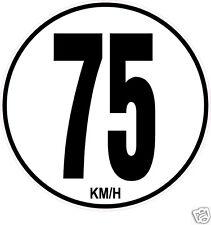 1 Limitation de Vitesse Autocars Tracteur Poids lourd 75KM/H adhésifs