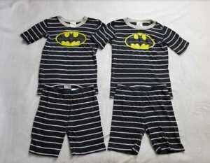 Set of 2  kids 14 160cm Hanna Andersson Batman shorts pajamas sets / twins
