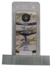 CoFast 18 Ga 1 inch Straight Finish Brad Air Nails fit Most 18 Ga Nailers 1M