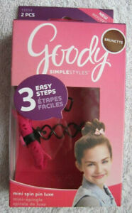 Goody Simple Styles Mini Spin Pins Bun Spiral Updo Hair Accessory Pin Light Dark