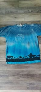 vintage lion king all over print graphic tee XLarge