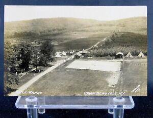 Camp Blauvelt, NY - Rifle Range - RPPC - Real Photo - New York