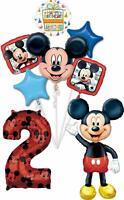"Mickey Mouse Party Supplies 2nd Birthday 52"" Airwalker Balloon Bouquet Decora..."