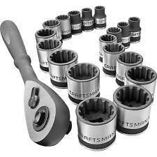 "Craftsman Socket Wrench Set 19 PC 3/8"" Universal Inch/Metric SAE Tools 924963"