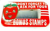 Vintage APPLEBAUM'S Retail Grocery Store DON'T FORGET STAMPS Name BADGE Pin