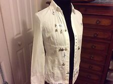 Elisa Cavaletti blouse white size Small Made in Italy