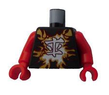 Lego Torso Ninjago Kai schwarz + rote Arme Neu 973pb2160c01