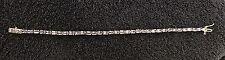 "Sterling Silver ~8 grams Shiny Light Purple Tennis Bracelet 7.25"" #92"