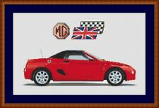 MG TF Cross Stitch Chart MG Cross Stitch Chart Bright Red