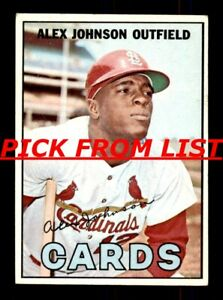1967 Topps #2-376 VG-EX Pick From List All PICTURED