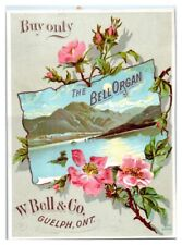 Bell Organ W. Bell & Co. Guelph, Ont. Canadian Rockies Victorian Trade Card