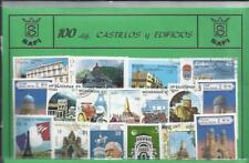 Conjunto de 100 Sellos usados diferentes del tema: CASTILLOS Y EDIFICIOS.