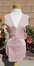 Styles for less womens hot fashion dress deep V neck pink stretchy size L