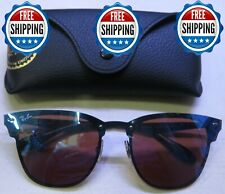 AUTHENTIC RAY BAN RB3576-N 153/7V BLAZE CLUBMASTER Violet/Blue Mirror ITALY