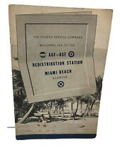 Vintage WW2 4th Service Command Book to the AGF-ASF Redistribution Station FL.