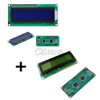 2pcs Blue + Yellow Backlight 1602 16x2 Character LCD Display Module HD44780 LCM