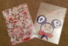 Takashi Murakami Clear File Plastic Folder SET OF 2 Flower Kaikai Kiki Mr. DOB